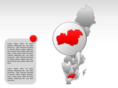 Sweden PowerPoint Map Slide 30