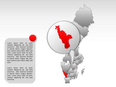 Sweden PowerPoint Map Slide 31