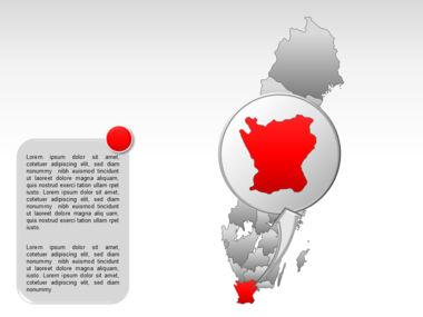Sweden PowerPoint Map Slide 33