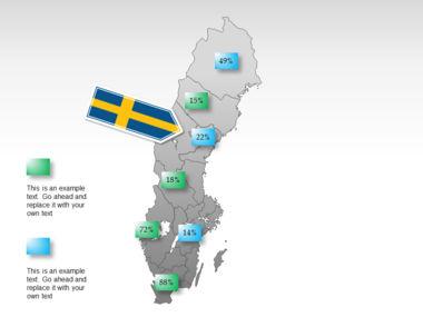 Sweden PowerPoint Map Slide 34