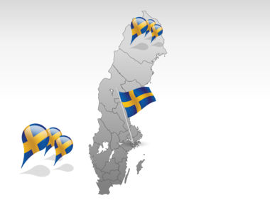 Sweden PowerPoint Map, Slide 4, 00033, Sweden — PoweredTemplate.com
