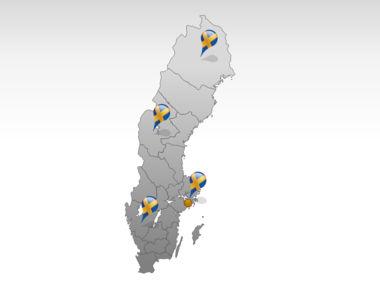 Sweden PowerPoint Map Slide 5