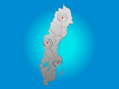 Sweden PowerPoint Map Slide 6