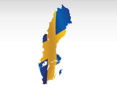 Sweden PowerPoint Map Slide 7