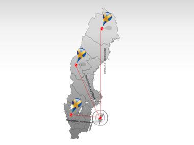 Sweden PowerPoint Map Slide 8
