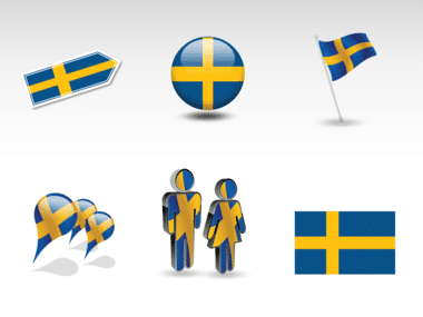 Sweden PowerPoint Map Slide 9