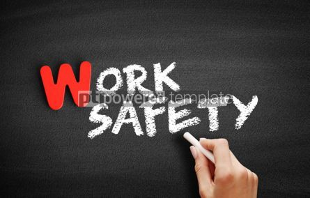 Business: Work Safety text on blackboard #00006