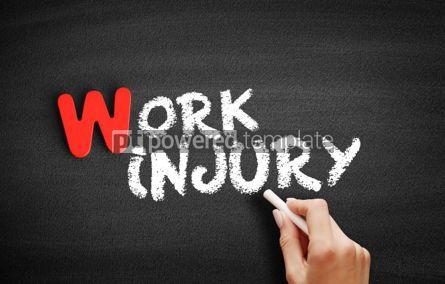 Business: Work Injury text on blackboard #00007