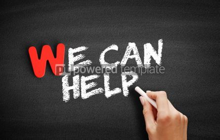 Business: We Can Help text on blackboard #00010