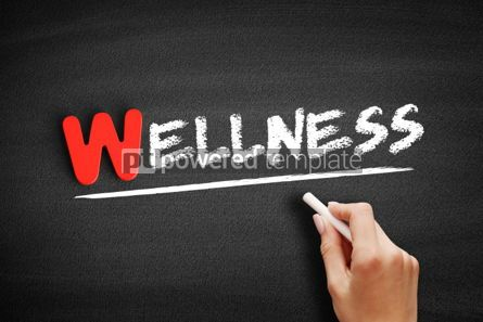 Business: Wellness text on blackboard #00011