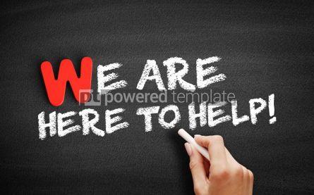 Business: Foto - estamos aqui para ajudar o texto no quadro-negro #00012