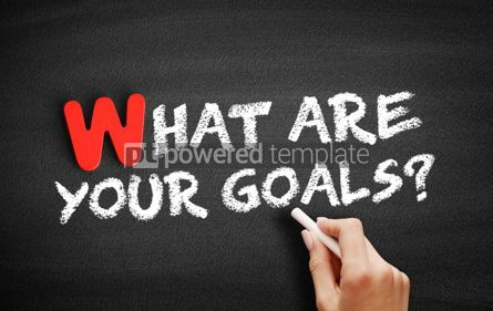 Business: What Are Your Goals text on blackboard #00013