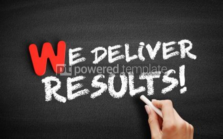 Business: We deliver Results text on blackboard #00015