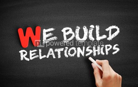 Business: We Build Relationships text on blackboard #00021