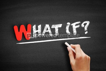 Business: What if text on blackboard #00022