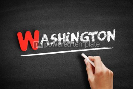 Business: Washington text on blackboard #00025