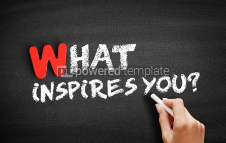 Business: What Inspires You text on blackboard #00028