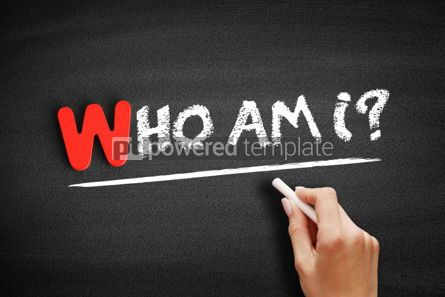 Business: Who Am I text on blackboard #00029
