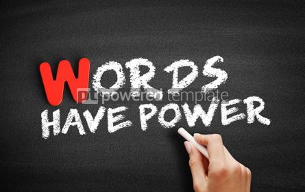 Business: Words Have Power text on blackboard #00032
