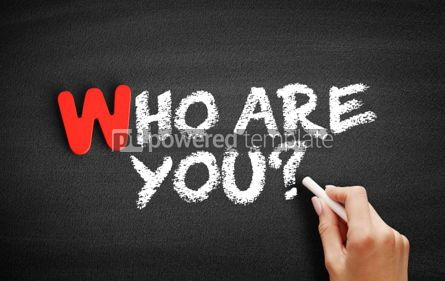 Business: Who Are You text on blackboard #00033