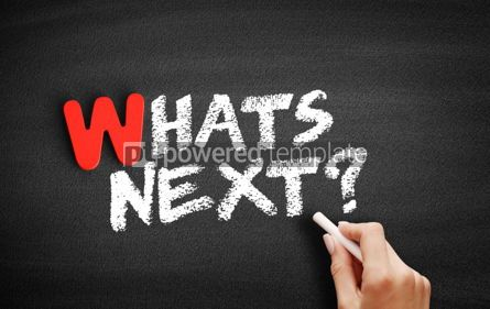 Business: What's Next text on blackboard #00035
