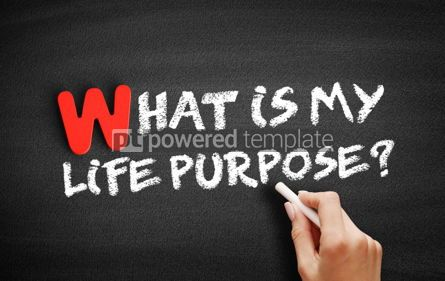 Business: What is My Life Purpose text on blackboard #00038
