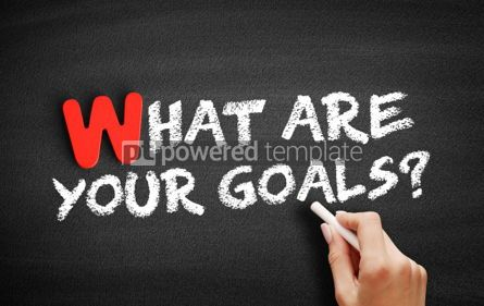 Business: What Are Your Goals text on blackboard #00042