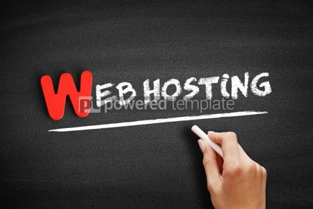 Business: Web Hosting text on blackboard #00044