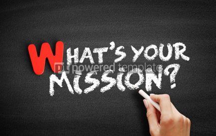 Business: Foto - qual é o seu texto de missão no quadro-negro #00045
