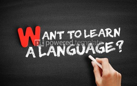 Business: Want to Learn a Language text on blackboard #00046