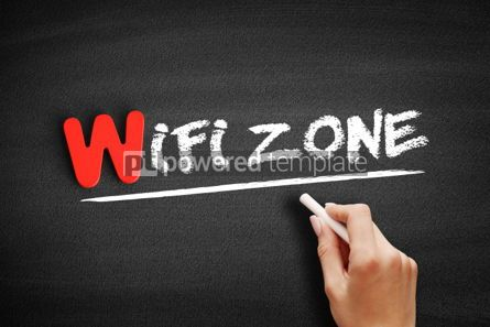 Business: WiFi Zone text on blackboard #00047