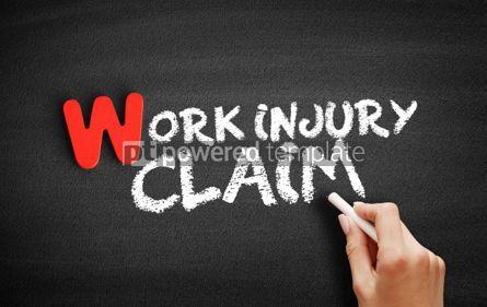 Business: Work Injury text on blackboard #00048