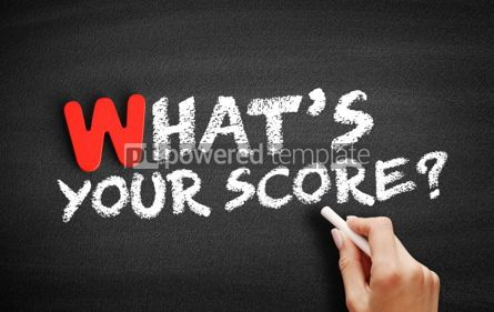 Business: What's Your Score text on blackboard #00051