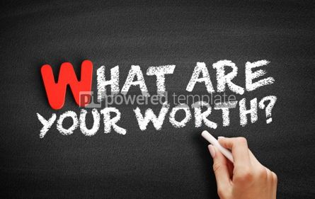 Business: What are your worth text on blackboard #00053