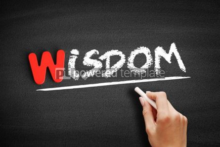 Business: Wisdom text on blackboard #00055