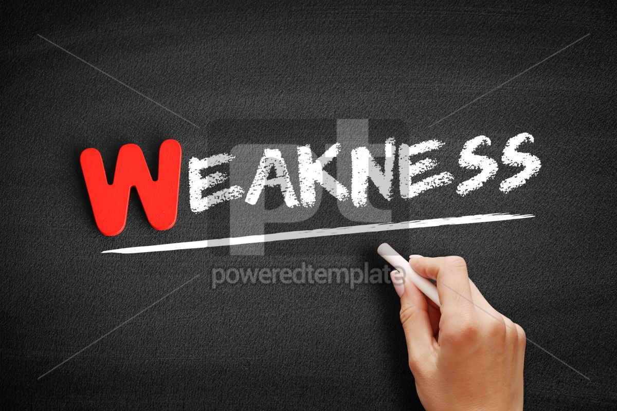 Weakness text on blackboard, 00056, Business — PoweredTemplate.com