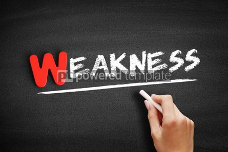 Business: Weakness text on blackboard #00056