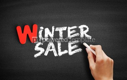 Business: WINTER SALE text on blackboard #00057