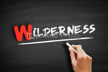 Business: Wilderness text on blackboard #00062
