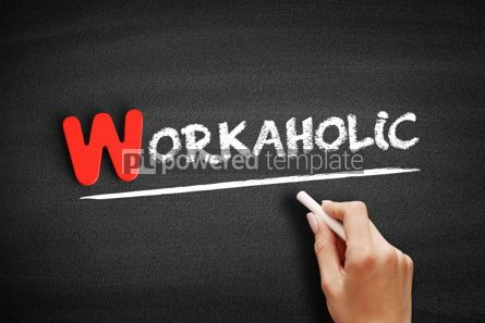 Business: Workaholic text on blackboard #00063