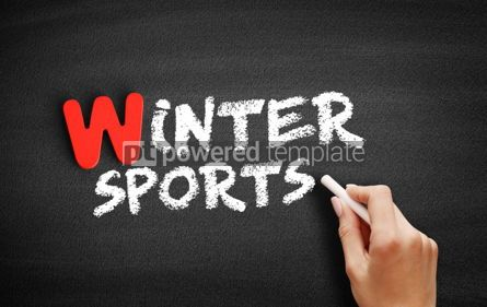 Business: Winter sports text on blackboard #00066