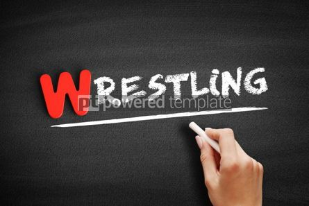 Business: Wrestling text on blackboard #00067