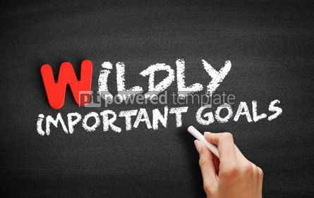 Business: Wildly Important Goals text on blackboard #00072