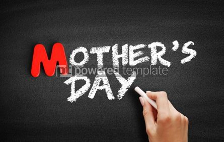 Business: Mother's Day text on blackboard #00075