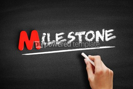 Business: Milestone text on blackboard #00077
