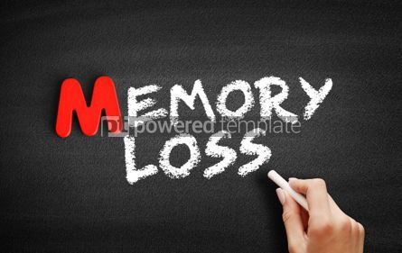Business: Memory Loss text on blackboard #00080