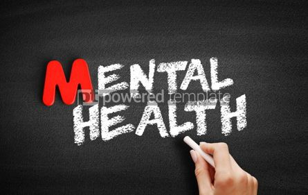 Business: Mental Health text on blackboard #00081
