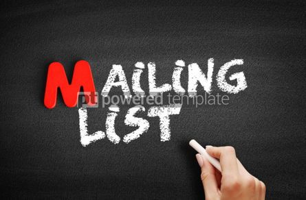 Business: Mailing List text on blackboard #00082