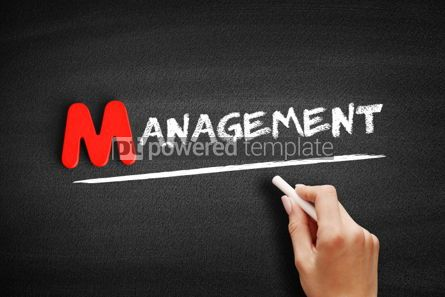 Business: Management text on blackboard #00084