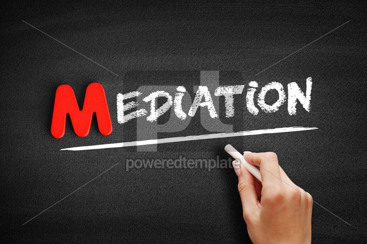 Mediation text on blackboard, 00085, Business — PoweredTemplate.com